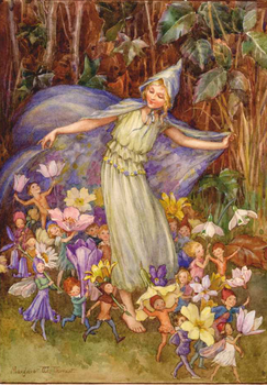 Postcard Margareth W. Tarrant | Springs Flowery Cloak