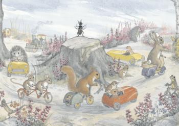 Postcard Molly Brett | The Traffic Roundabout