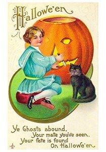 Victorian Halloween Postcard | A.N.B. - Halloweenwens