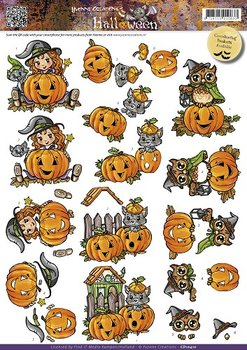 3D Cutting sheet - Yvonne Creation - Halloween - Pumpkins