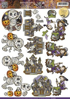 3D Cutting sheet - Yvonne Creation - Halloween - Little monsters