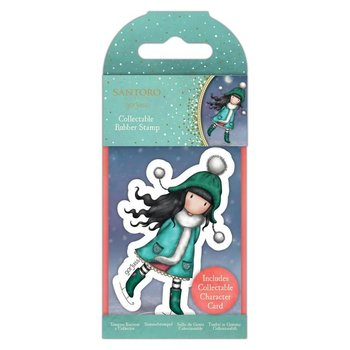 Gorjuss Collectable Rubber Stamp - Santoro - No.77 The Ice Dance