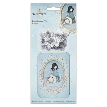 Gorjuss Embellishment Tin (200pcs) - Santoro - Winter Friend