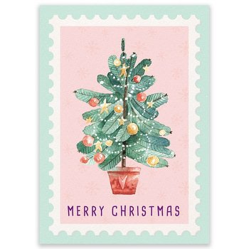 Postcard LittleLeftyLou | Christmas Tree Stamp