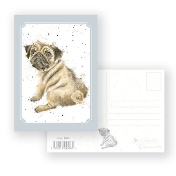 Wrendale Designs 'Pug Love' Postcard