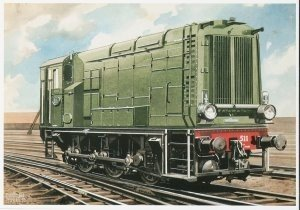 Postcard | Charles Burki - D.E. locomotief