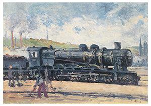 Postcard | La Locomotive, Environs De Charleroi
