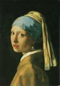 Postcard | Vermeer - Head of a girl (detail), c. 1664