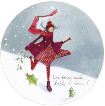 Round Christmas Postcard Anne-Sophie Rutsaert -