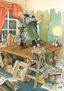 Inge Look Nr. 64 Postcard | Old Ladies Aunties