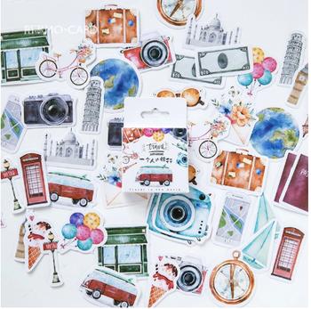 Sticker Flakes Box | Travel