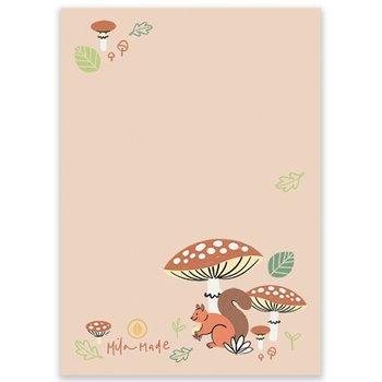 A6 Woodland Squirrels Memopad - Notepad by Mila Made