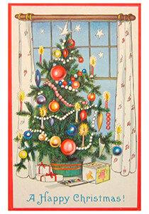 Postcard | Kerstboom met cadeaus