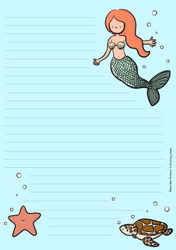 A5 Mermaid Letterpad - Notepad by Tamara Boon Illustraties