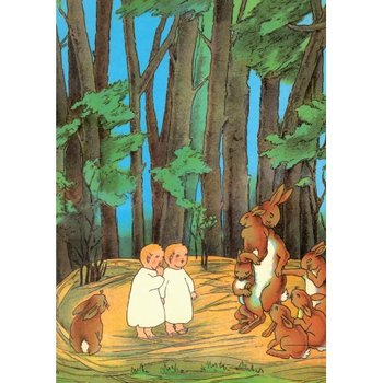Postcard   The Story of the Rabbit Children, 1906