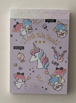 Sanrio Mini Memo Pad Sanrio | Little Twin Stars Unicorn