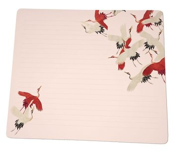 Notebook Desk Planner   Woman haori with Red and White Cranes