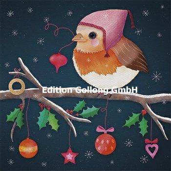 Sandra Brezina Postcard Christmas | Rotkehlchen