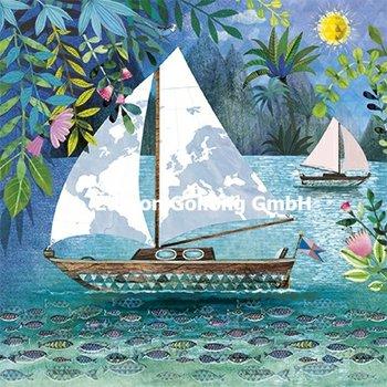 Mila Marquis Postcard | Sailboat