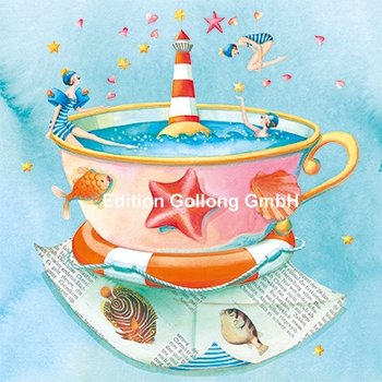Nina Chen Postcard | Sea in a cup