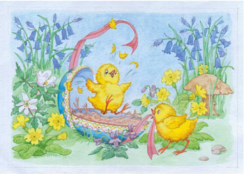Postcard Molly Brett | Easter Chicks