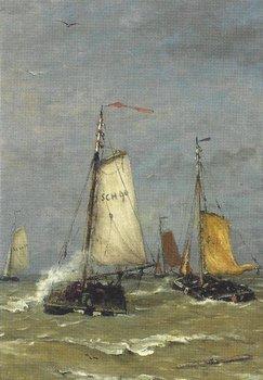 Museum Cards Postcard | Visserschepen, Hendrik Willem Mesdag