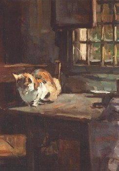 Museum Cards Postcard | Cat on a table