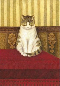 Museum Cards Postcard | Cat Sitting on a Bed