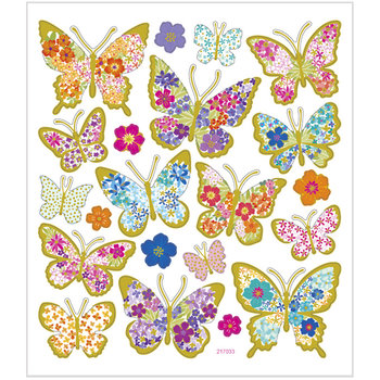 Seal Sticker with Gold Foil | Butterflies