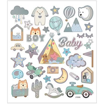 Seal Sticker with Silver Foil | Baby Boy