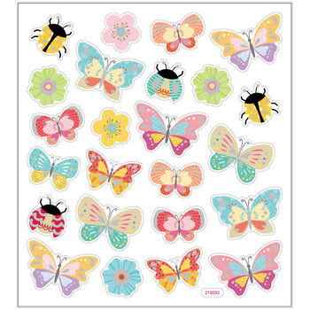 Seal Sticker met Glitter Folie | Butterflies and Ladybirds
