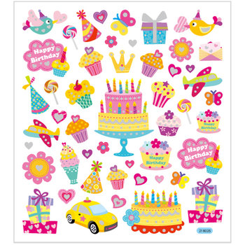 Seal Sticker with Glitter Foil | Birthday