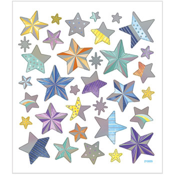 Seal Sticker with Silver Foil | Stars