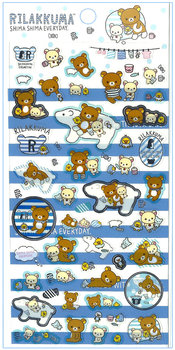 San-X Rilakkuma Seal Sticker | Shima Shima Everyday