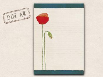 A4 Briefpapierblok TikiOno | Mohn