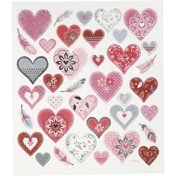 Seal Sticker met zilverfolie | Hearts