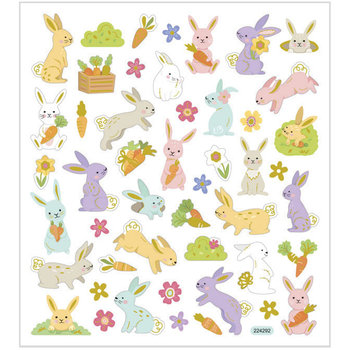 Seal Sticker met Goudfolie | Easter Bunny