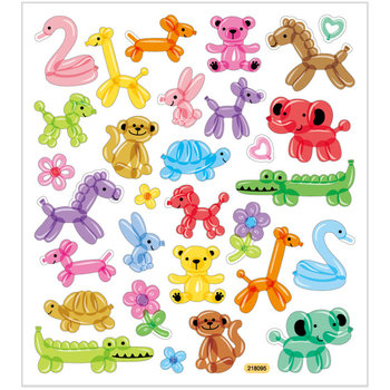 Seal Sticker met Glitter Folie | Balloon Animals