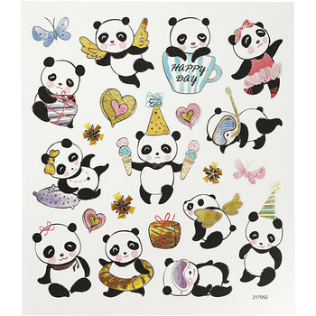 Seal Sticker with Silver Foil | Pandas
