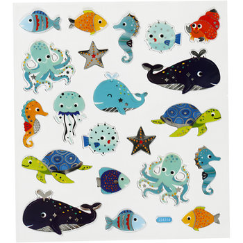 Seal Sticker met zilverfolie | Sea Animals