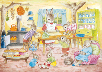 Postcard Molly Brett | Mrs Bunny's Baking Day