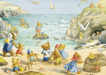 Postcard Molly Brett | Teddy Bear Beach