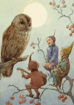 Postcard Margareth W. Tarrant | A Carol for Brown Owl