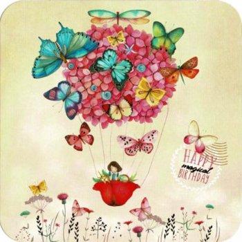 Mila Square Postcard | Butterflies