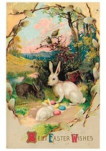 Victorian Postcard | A.N.B. - Best easter wishes