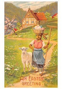 Victorian Postcard | A.N.B. - Vrolijk pasen