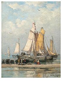 Postcard | Hendrik Willem Mesdag - De Terugkeer Van De Vissersvloot Op Het Strand Van Scheveningen