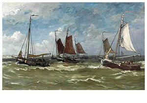 Postcard | Hendrik Willem Mesdag - Een Dag In November, Scheveningen