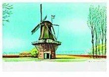 Postcard | Jan Lavies - Menukaart Holland-Amerika lijn