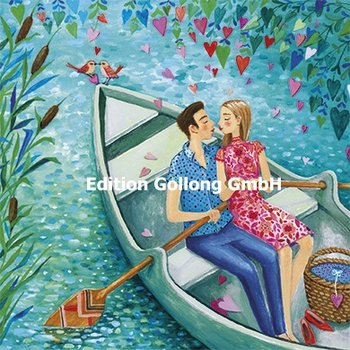 Mila Marquis Postcard | Love couple in a boat